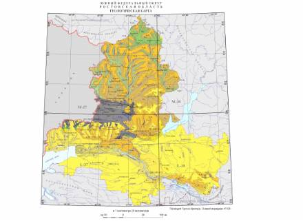 Geological map of  Rostov region