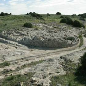 Stone roads and ruts, Castelar de Meca, Spain