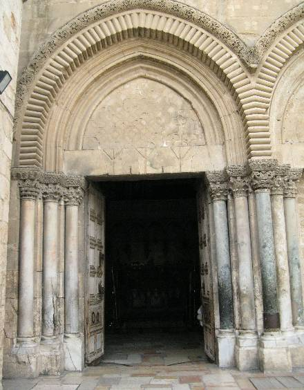 Holy Gates of Church of the Holy Sepulchre in Jerusalem