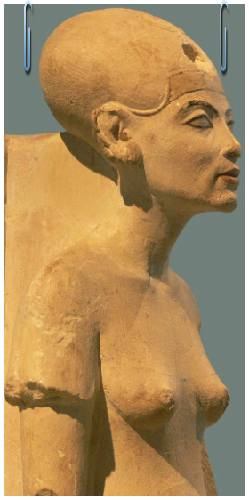 Intravital Portraits of the Ancients. Statue of Nefertiti, Berlin museum